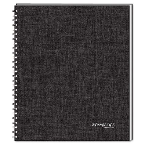 One Subject Wirebound Business Notebook - 80 Shs