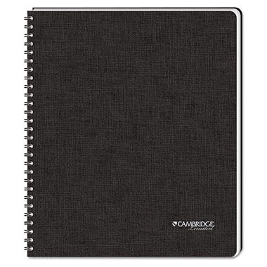 Cambridge Limited - Black Hardbound Subject Notebook, Lgl Rule - 96-Sheet Pad