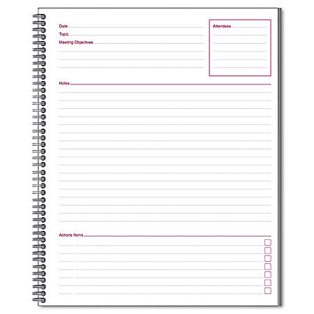 Cambridge Limited - Meeting Notebook, 8 -7/8 X 11 -  80 Ruled Sheets