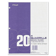 Mead Quad-ruled Filler Paper