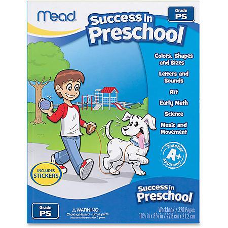 Mead Success In Preschool Learning Workbook