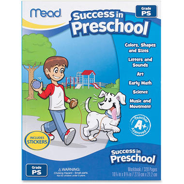 Mead Success In Preschool Learning Workbook
