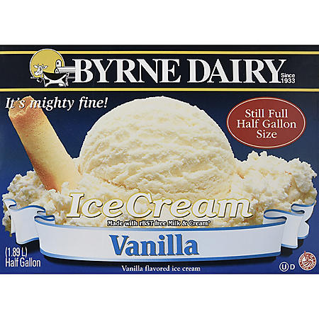 Byrne Dairy Ice Cream, Assorted Flavors (half gallon carton, 2 pk)