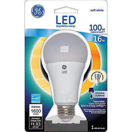 GE 16 Watt LED A21 General Use Bulb