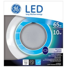 GE 10 Watt BR30 LED Recessed Downlight
