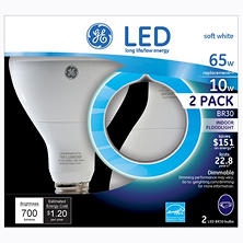 GE 10 Watt LED BR30 Floodlight (2-pack)