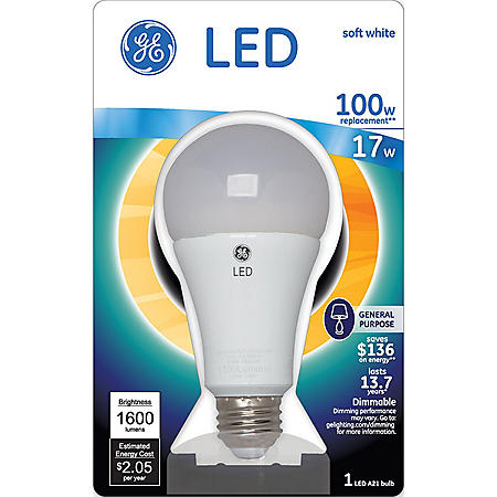GE 17 Watt LED A21 General Use Bulb - Soft White