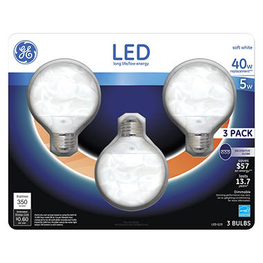 Ge 2 Pack 40 W Equivalent Dimmable Daylight A15 Led Decorative Light Bulb