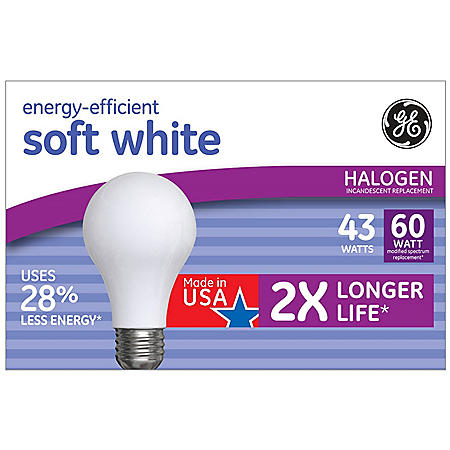 GE 43W Energy Efficient Halogen Light Bulb (12 Pk.)