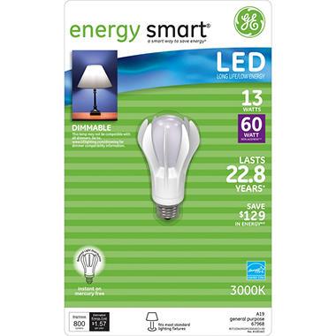 GE 13 Watt LED General Use Bulb (Replaces 60 Watt Bulb) - Sam's Club:GE 13 Watt LED General Use Bulb (Replaces 60 Watt Bulb),Lighting