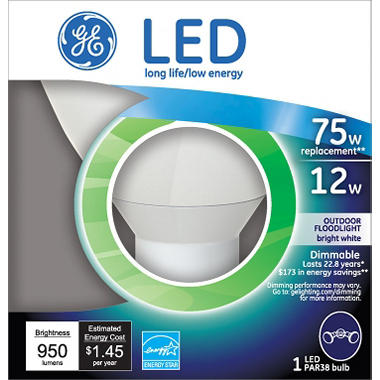 GE 12 Watt LED Floodlight (Replaces 65 Watt Bulb)