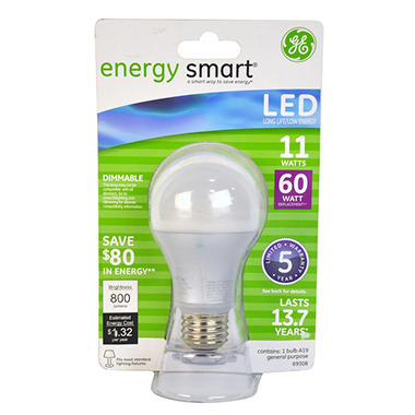 GE 11 Watt A19 Energy Smart LED General Use Bulb