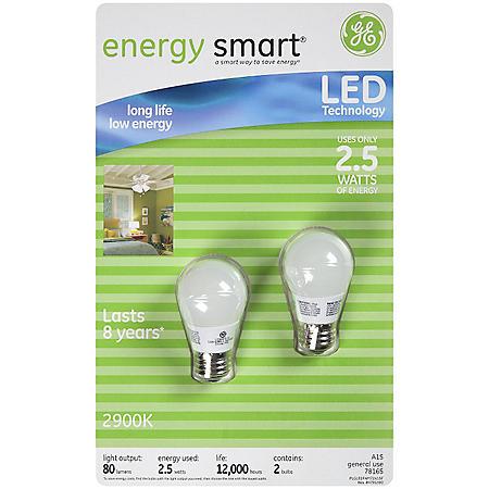 GE Energy Smart™ LED Bulbs 2.5W - 2 ct.