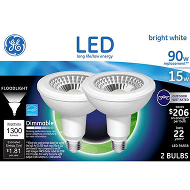 Ge led 15w par 38 bright white outdoor flood light bulb 2 pk ge led 15w par 38 bright white outdoor flood light bulb 2 pk workwithnaturefo