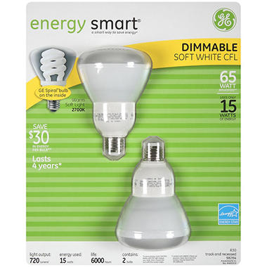 GE Energy Smart 65 Dimmable Floodlight - 2 pk.