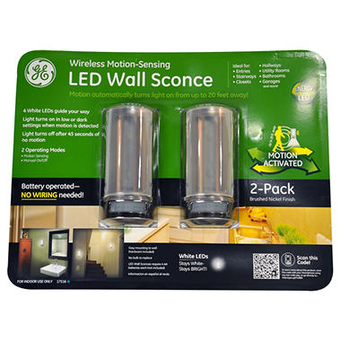 Ge led motion sensing wall sconce sams club ge led motion sensing wall sconce aloadofball Choice Image