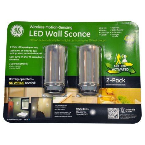 GE LED Motion Sensing Wall Sconce