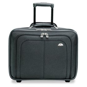 Samsonite Mobile Office Notebook Case, Nylon, 17-1/2 x 9 x 14, Black