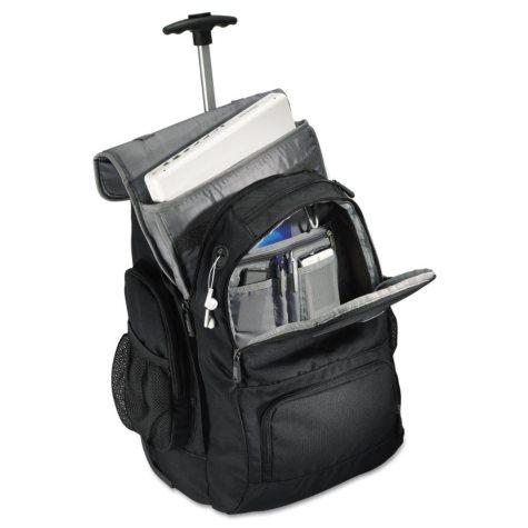 Samsonite - Wheeled Backpack, 14 x 8 x 21 -  Black/Charcoal