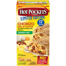 Hot Pockets Chorizo, Egg and Cheese in a Croissant Crust (17 pk.)