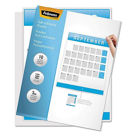 Fellowes - Self-Laminating Sheets, 3mil, 12 x 9 1/4 -  50/Box