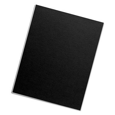 Fellowes - Futura Binding System Covers, Square Corners, 11 x 8 1/2, Black -  25/Pack