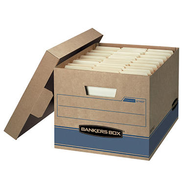 Bankers Box Heavy Duty Storage Boxes, 10