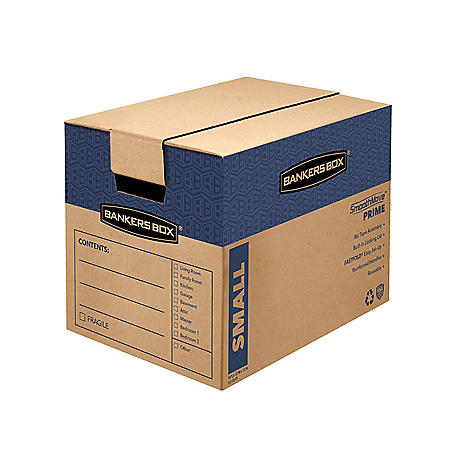 """Bankers Box SmoothMove Prime Small Moving/Storage Boxes, Kraft (17 1/4"""" x 12 3/8"""" x 12 5/8"""", 10 ct.)"""