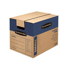 Bankers Box SmoothMove Prime Small Moving/Storage Boxes, 17 1/4 x 12 3/8 x 12 5/8, Kraft, 10ct.
