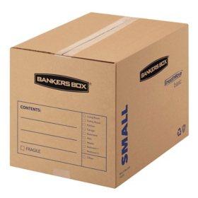 Bankers Box SmoothMove Basic Small Moving Boxes, Kraft/Black (16 1/2 x 12 1/4 x 12 5/8, 25ct.)