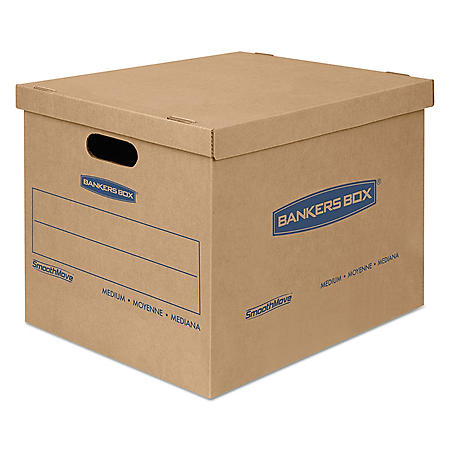 Bankers Box SmoothMove Classic Medium Moving/Storage Boxes, Kraft (19 x 15 1/2 x 14 1/2, 8ct.)