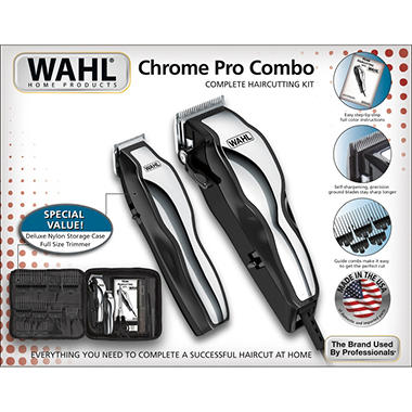 Wahl Chrome Pro Combo with Deluxe Nylon Storage Case