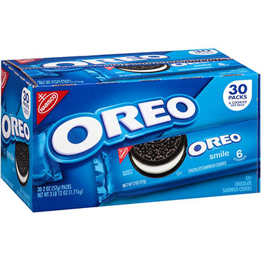 Nabisco Oreo Chocolate Sandwich Cookies (2 oz. ea., 30 pk.)