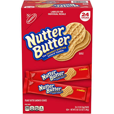 Nabisco Nutter Butter Cookies - 1.9 oz. - 24 pks.