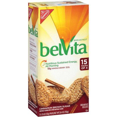 belVita Cinnamon Brown Sugar Breakfast Biscuits (15 pk. 4 ct.)