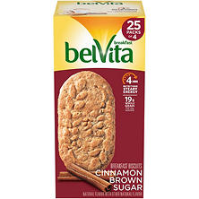 belVita Cinnamon Brown Sugar Breakfast Biscuits (4 per pk., 25 pks.)