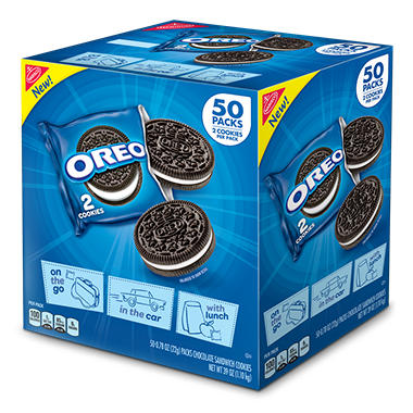 Nabisco Oreo Chocolate Sandwich Cookies (0.78 ea., 50 pk.)