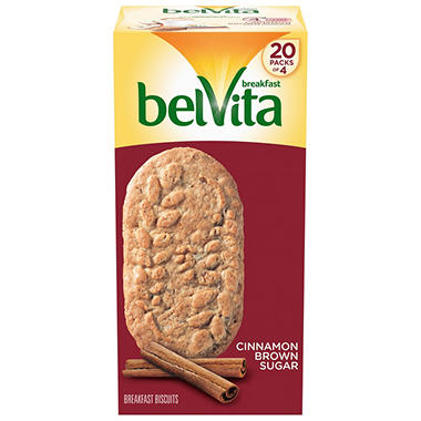 belVita Brown Sugar Cinnamon Biscuits (1.76 oz. per pk., 20 pks.)