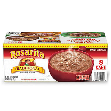 Rosarita Traditional Refried Beans (16 oz., 8 ct.)