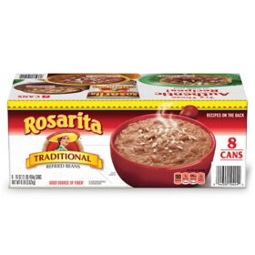 Rosarita Traditional Refried Beans (16 oz., 8 ct.)