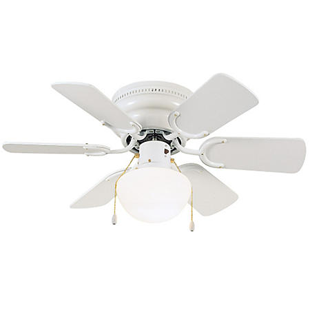"Atrium by Design House 30"" 6-Blade Ceiling Fan with Light Kit - White"