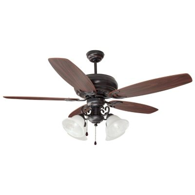 Design House 4Light 52 Ceiling Fan Drake Collection Oil Rubbed