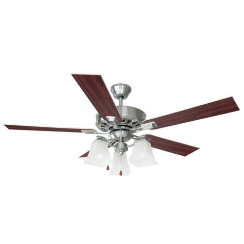 "Design House 52"" Ceiling Fan Torino Collection - Satin Nickel"