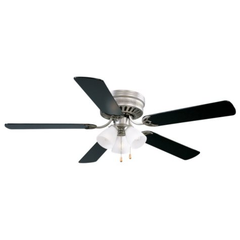 "Millbridge by Design House 52"" Ceiling Fan with 5 Blades Light Kit - Satin Nickel"