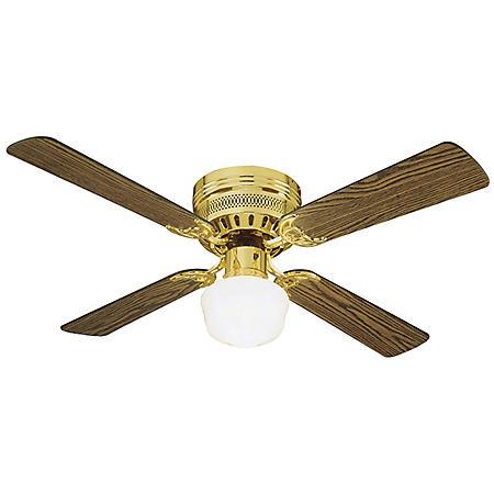 "Design House Millbridge 42"" Indoor Ceiling Fan - Polished Brass"