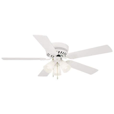 """Millbridge by Design House 52"""" Ceiling Fan with 5 Blades and Light Kit - White"""