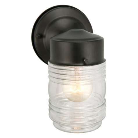 Jelly Jar by Design House Outdoor Downlight - Black