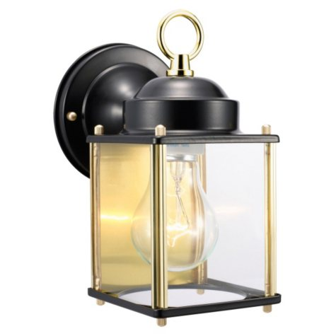 Coach by Design House Black and Brass Outdoor Downlight