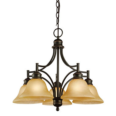 Bristol by Design House Chandelier - Oil Rubbed Bronze