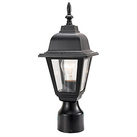 Maple Street by Design House Outdoor Post Light - Black